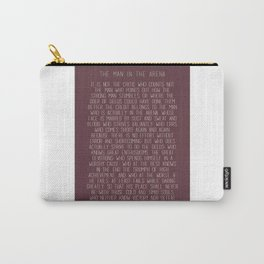 The Man In The Arena by Theodore Roosevelt 3 #minimalism Carry-All Pouch