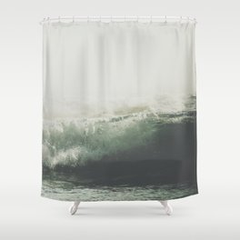 Into the waves VI Shower Curtain