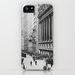 Vintage Wall Street NYC Photograph (1921) iPhone Case
