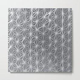 Japanese Tie Dye in Pebble Metal Print