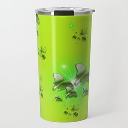 Greenery - Butterflies and Bubbles Travel Mug