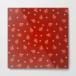apples and flowers Metal Print