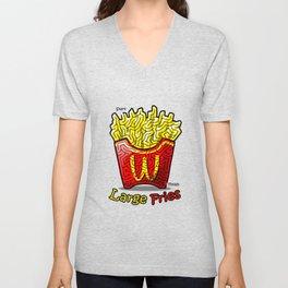 Maze Shirts: Large Fries Unisex V-Neck