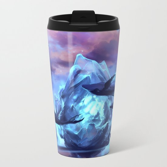 When the moon is closer Metal Travel Mug