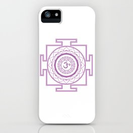Sri Yantra Crown Chakra iPhone Case