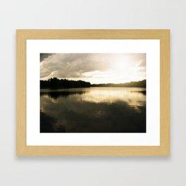 Lake in the Sun Framed Art Print