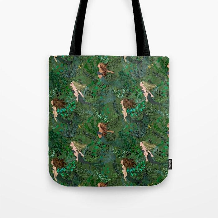 Mermaids in an Underwater Garden Tote Bag