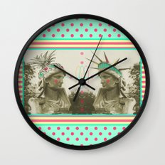 Pineapple architecture 3 : statue of liberty Wall Clock