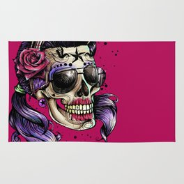 Hilarious Mexican Divine Skull Rug