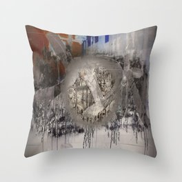 The surface etch Throw Pillow