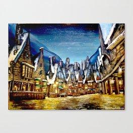Wintry Hogsmeade Canvas Print