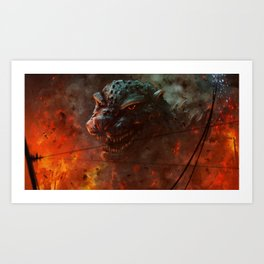 Baptized in the Fires of the H-bomb Art Print