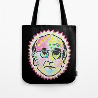 larry david Tote Bags featuring Larry David by Butt Ugly Co