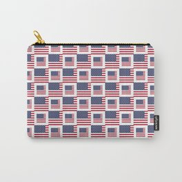 flag of the usa -with square Carry-All Pouch