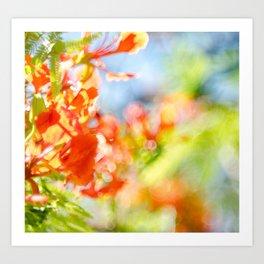 Mighty Sunny Abstract Art Print