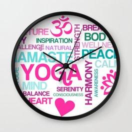Yoga Peace and Namaste Wall Clock