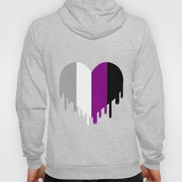 Dripping Asexual Heart Asexual Gift Hoody