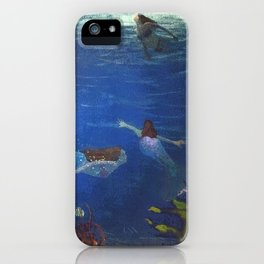 Mermaids Tales and Scales iPhone Case