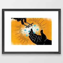 Elijah Fed By Ravens (by Vaughn Fender) Framed Art Print