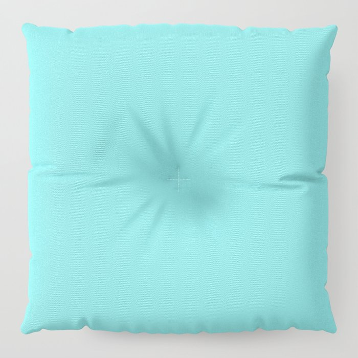 From The Crayon Box – Turquoise Blue - Bright Blue Solid Color Floor Pillow