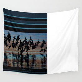 Sandpipers At Dusk Wall Tapestry
