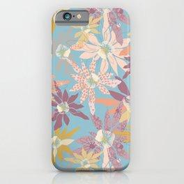 Higashi Flowers Blue iPhone Case