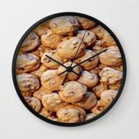cookies Wall Clocks featuring Cookies by Rachel Bernz