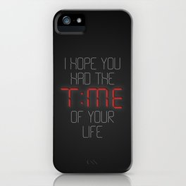 I hope you had the time of your life - Greenday iPhone Case