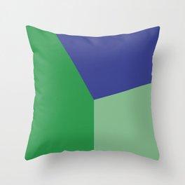 Color block #6 Throw Pillow