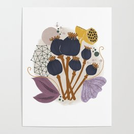 Fall Floral Bouquet Poster