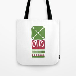 Nordic Green Flower Tote Bag