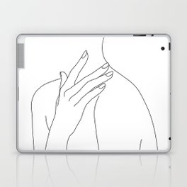 Female body line drawing - Danna Laptop & iPad Skin