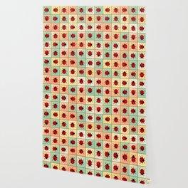 Ladybugs pattern Wallpaper