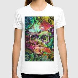 funky skull i T-shirt