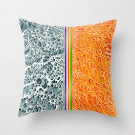 Water/Fire Set B Throw Pillow