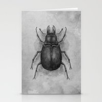 beetle Stationery Cards featuring Beetle by Salih Gonenli