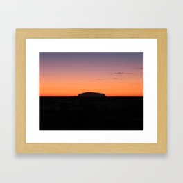 Sunrise at Uluru. Framed Art Print