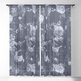 Night Botanical Garden II Sheer Curtain