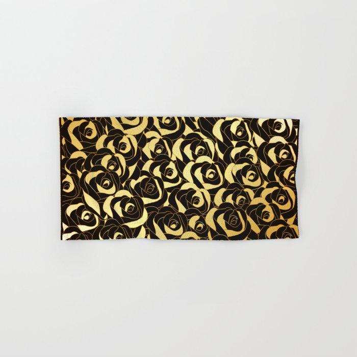 Golden Roses Hand & Bath Towel
