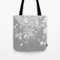 Helsinki Map Line Tote Bag