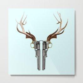 GUN SKULL Metal Print