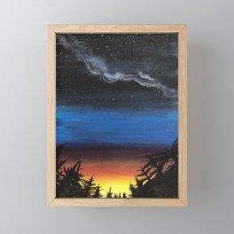 looking into the future Framed Mini Art Print