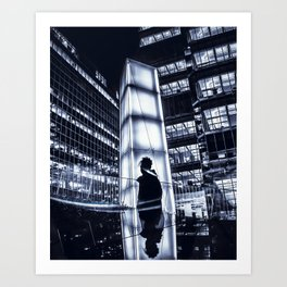 two sides of the same story Art Print