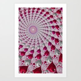 Tunnel Vision Red Art Print