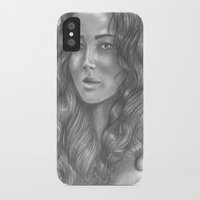 katniss iPhone & iPod Cases featuring Goodbye by ombradellaluna