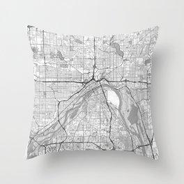 St Paul Map Line Throw Pillow