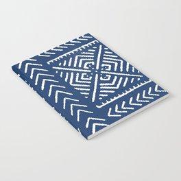 Line Mud Cloth // Dark Blue Notebook
