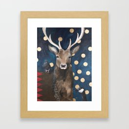 Stag with Tubbs and Goose Framed Art Print