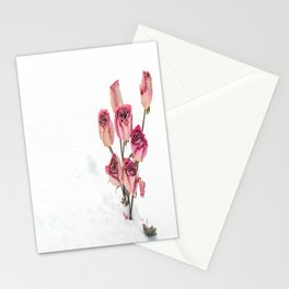 Rose in Snow Stationery Cards
