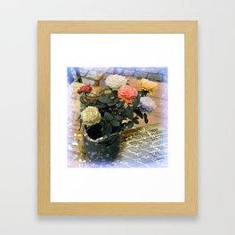 Roses on the table Framed Art Print
